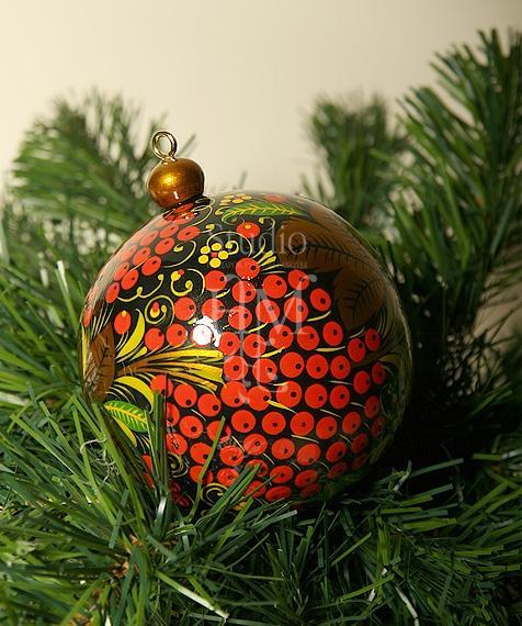 елочный шар хохлома