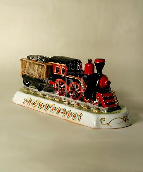статуэтка паровоз с вагоном